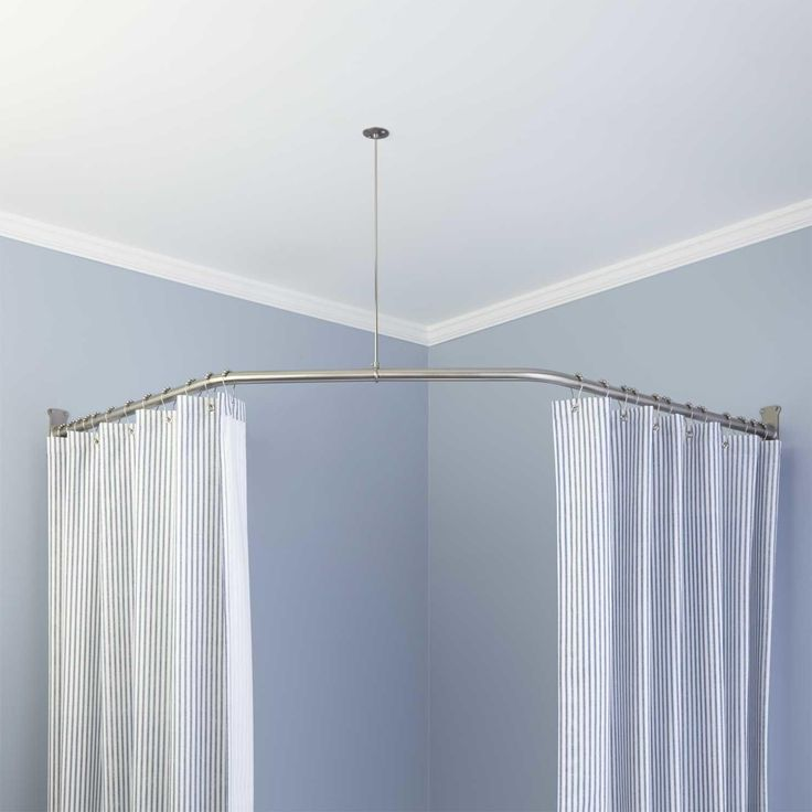 With Corner Curtain Rod You Won T Miss Decorating The Corners Too