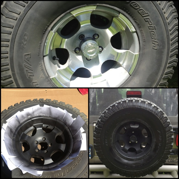 Converting wheels from chrome to black, $12 diy conversion with plastidip #jeep #wrangler #diy