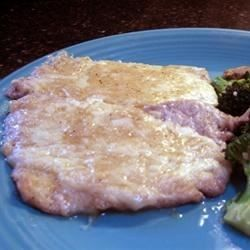 Veal Cutlets with mozzarella cheese, and smothered in a decadent buttery sherry sauce.   By Patti Weiss.  Can be made with chicken.