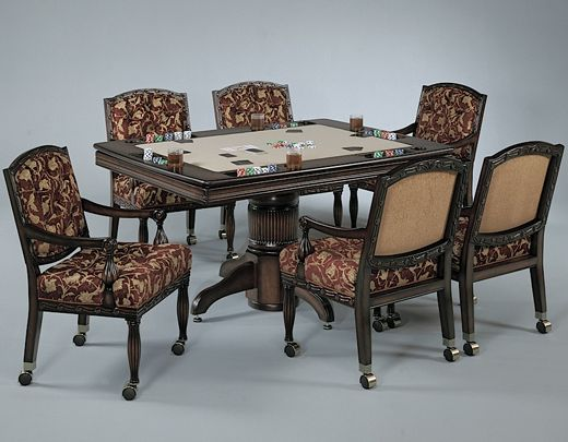 Poker Tables and Chairs - Custom Poker Game Tables for Sale