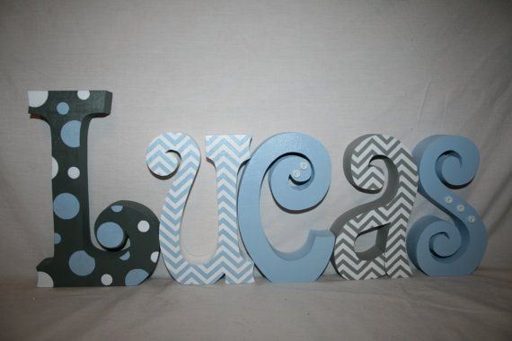 Wood letters for boy Personalized name por WoodenWondersShop