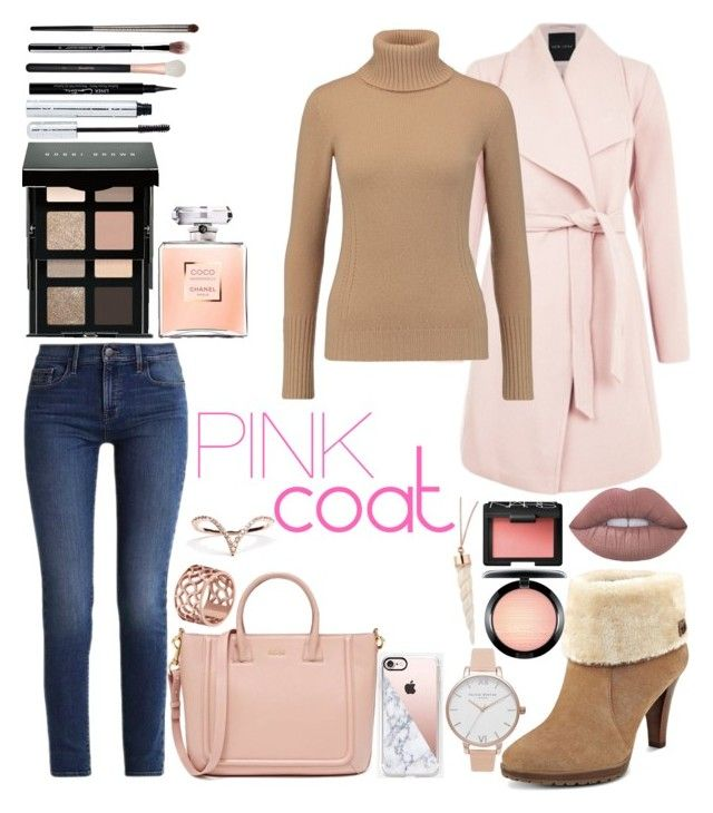 """Pink coat"" by emmely201 on Polyvore featuring Calvin Klein, Agnona, Anne Klein, Casetify, Tartesia, Olivia Burton, Bobbi Brown Cosmetics, 100% Pure, Givenchy and MAC Cosmetics"