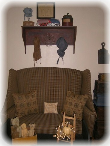 Primitive Living Room Furniture | My Primitive Colonial Farmhouse Living  Room   Living Room Designs . Part 69