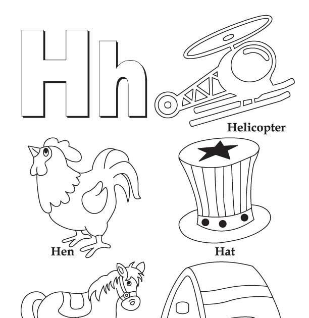 These Free Printable Letter H Coloring Pages Online Highlight Words And Pictures Coloring Letters Letter A Coloring Pages Coloring Worksheets For Kindergarten