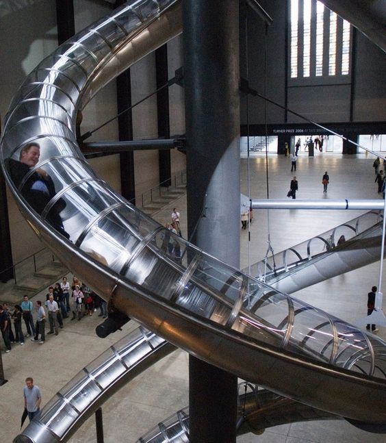 Making art fun: A slide at the Tate Modern. Happy Friday folks! From us all @ Contraband Events! Performers | Entertainment Agency | Corporate Event Entertainment / UK Talent Booking Agency / Celebrity / Famous Artistes / London / UK www.contrabandevents.com
