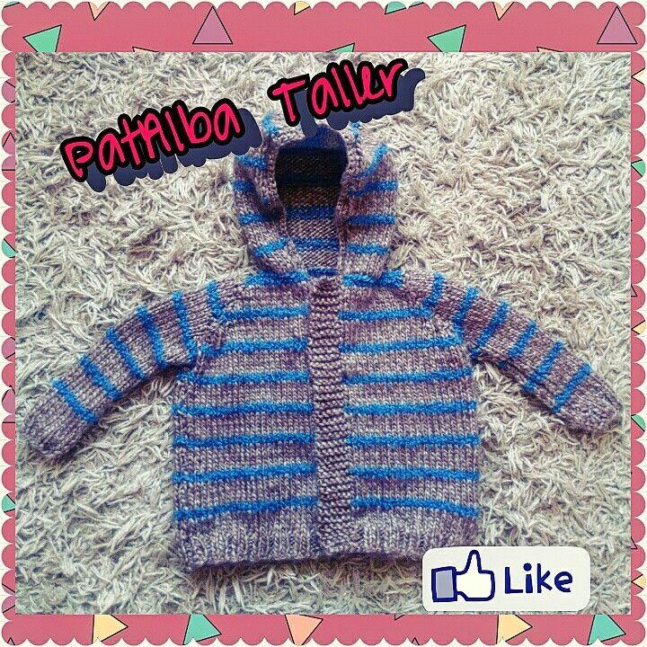 Chaleco de bebé {6 meses} tejido a palillo #PatAlbaTaller #diseñodeautor #emprendedora #artesana #handmade #tejidos #palillos #confeccionapedido #regalounico