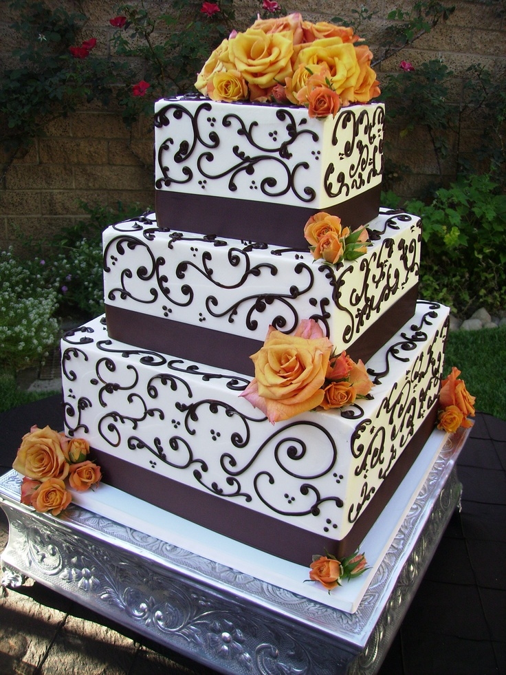 black wedding cakes with flowers 14 best images about wedding cake on orange 11887