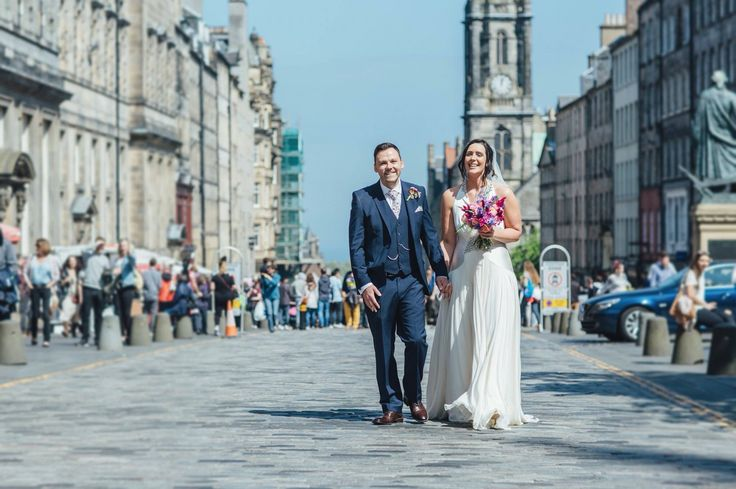 Nat & Pete, Edinburgh Royal Mile, Summer City Chambers wedding