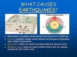 Causes of Earthquakes  Causes of Earthquakes : Learn Why Do Earthquakes Happen through Picture, PPT, PDF,  Video An earthquake is brought on by an unexpected slip on a fault.  For ,more see :- http://www.earthquakenewz.com