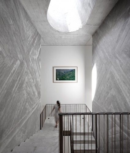 :: INTERIORS :: adore the work of Casa do Conto / Pedra Líquida, lovely feature on @Gail Regan Truax://www.archdaily.com - breathtaking #interiors #concrete #architecture