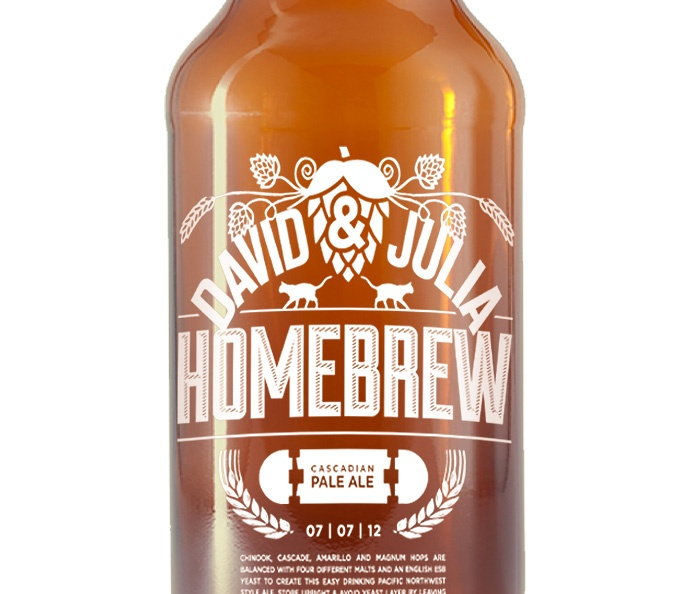 Design by David Manzl - David & Julia Home Brew, beer label