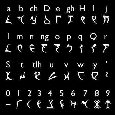 Klingon Alphabet for aliens this year                                                                                                                                                                                 More