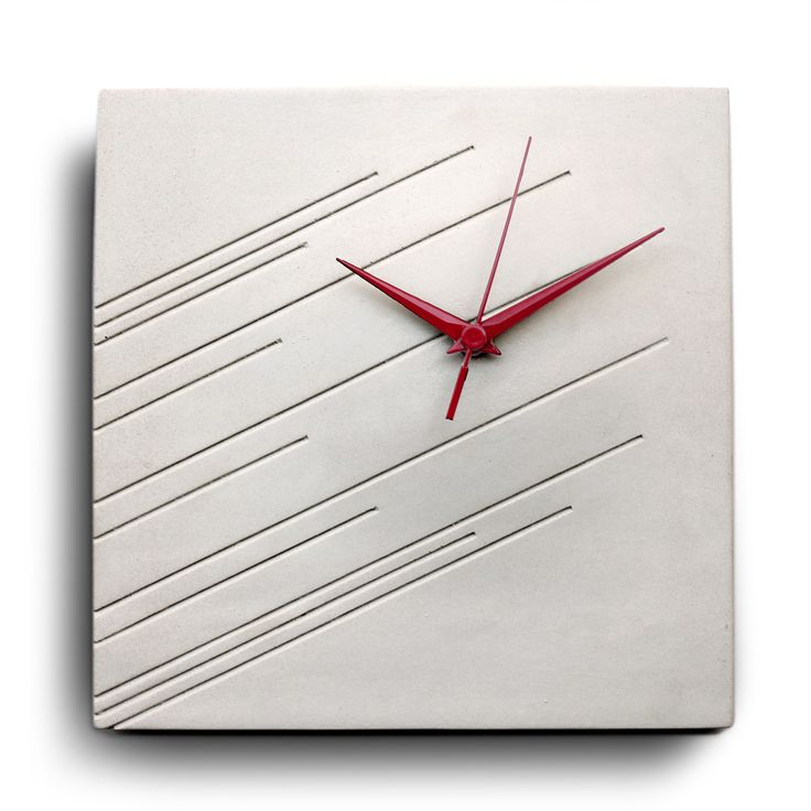 Concrete impression wall clock