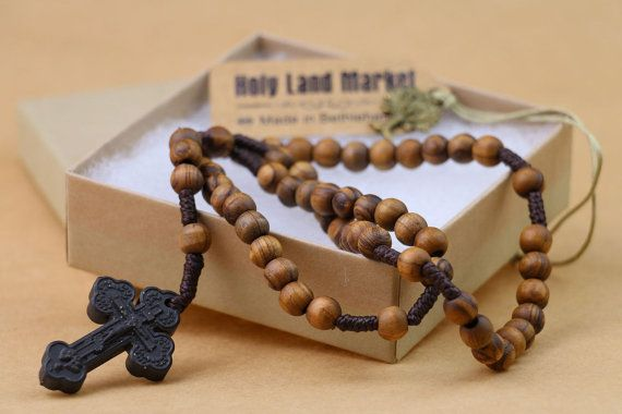 Original Olive Wood rosary with Holy Soil Cross,Rosary prayer, Baptism Rosary, Rosery, Grandparent gift for christmas,Best grandparent gifts