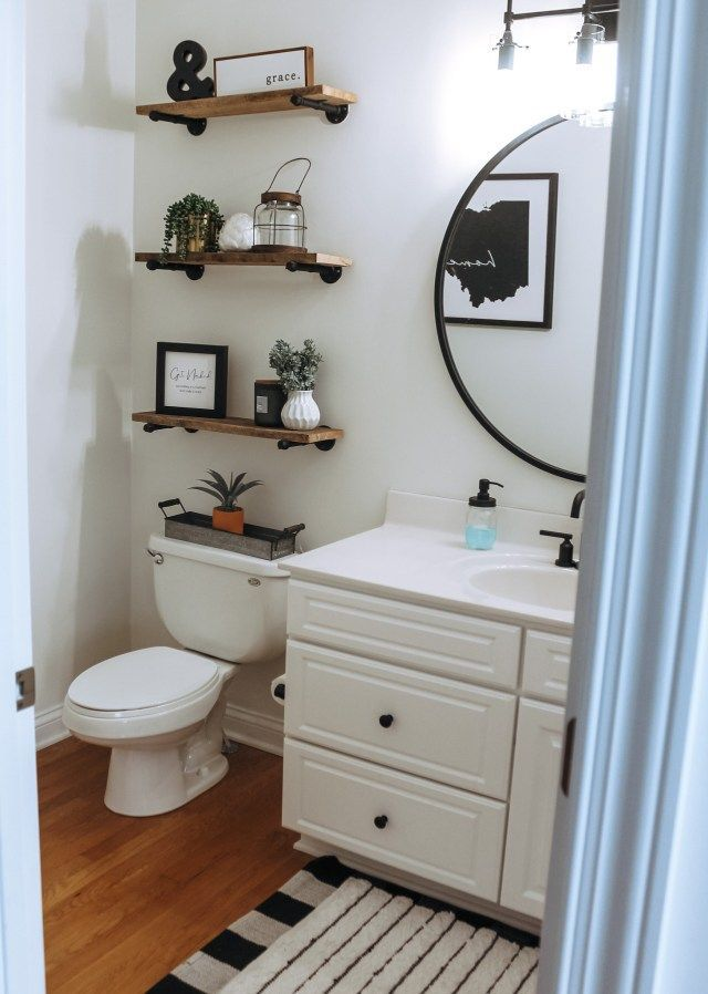 Modern Farmhouse Powder Room Update In 2020 Modern Farmhouse