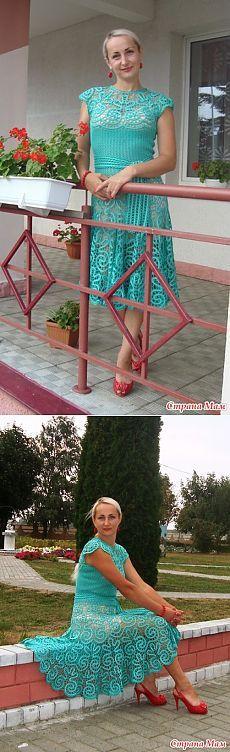 Платье-брюгге. Довела до ума))) - Вязание - Страна Мам