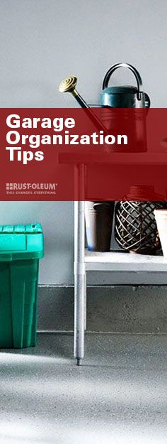 Use vertical space to your advantage. Group items for easy storage. These are just a few of the garage organization tips that Houzz recommends! With a cleaner garage, you can start on bigger aesthetic upgrades, too—like the surprisingly simple DIY of RockSolid® Metallic Floor Coating.
