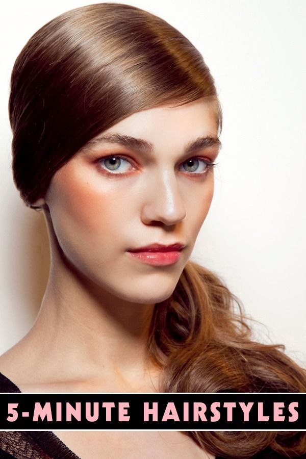 5 Cool Hairstyles You Can Do In 5 Minutes Color De Pelo Peinados Y Comprar