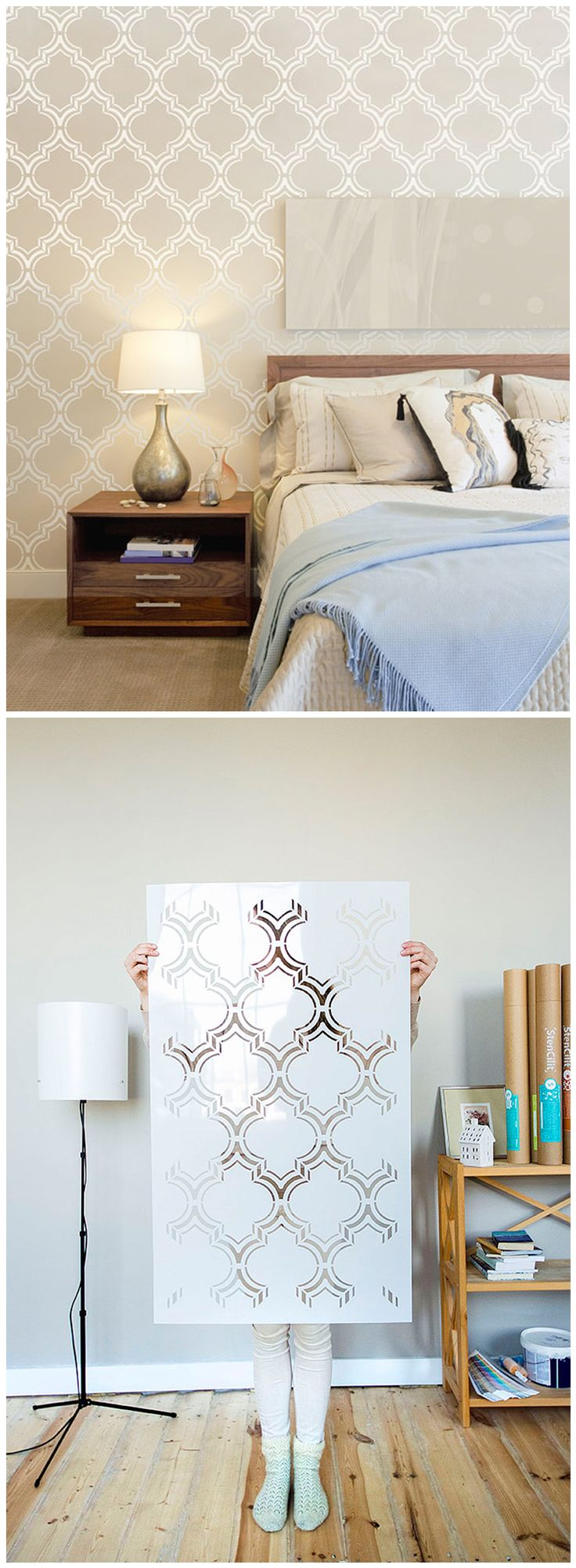 94 best wall stencils images on pinterest wall stenciling moroccan double wall stencil by stencilit moroccan wallstencil homedecor stencilit amipublicfo Image collections