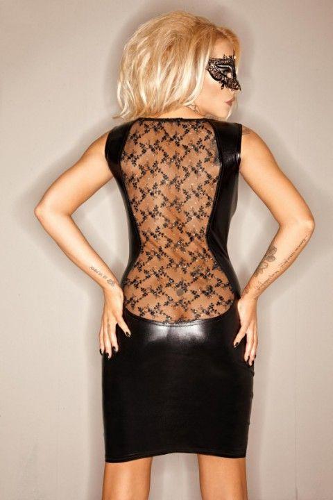 Die Rückseite diese #Wetlook #Kleides kann sich definitiv sehen lassen! Doch wie steht es um die Frontansicht? Seid ihr auch so neugierig? https://www.burlesque-dessous.de/mode/sexy-kleider/wetlookkleider/spitzen-minikleid-wetlook