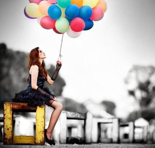 balloon photography | balloon, colorful, fashion, photography - inspiring picture on Favim ...