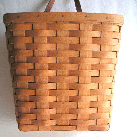 Longaberger Extra Small Foyer Basket : Vintage longaberger hanging basket authentic