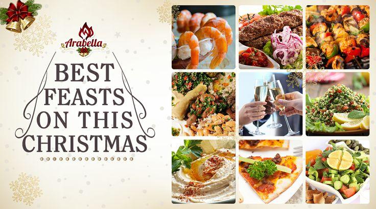 Enjoy Lebanese dishes, drinks with dessert at Arabella restaurant.  #christmascelebration