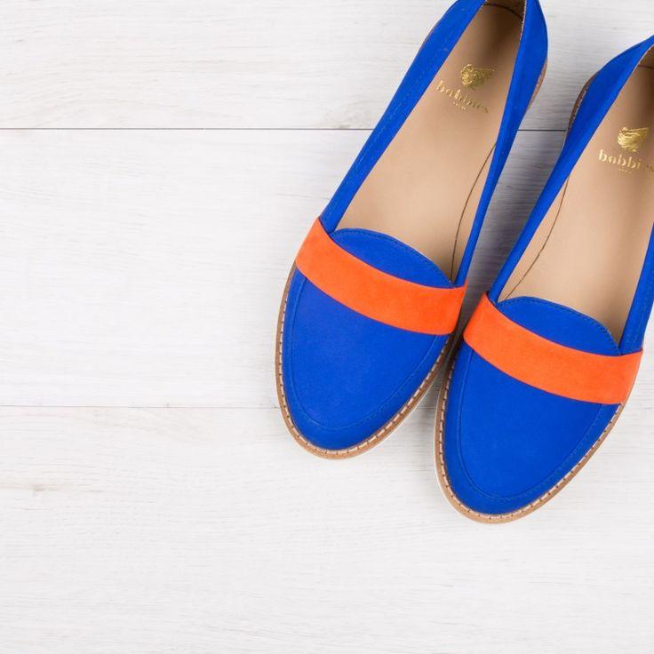 Loafers bleu aztek - La Fille À Papa - Bobbies