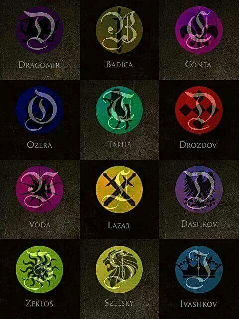 Símbolos de la familia real. Academia de Vampiros