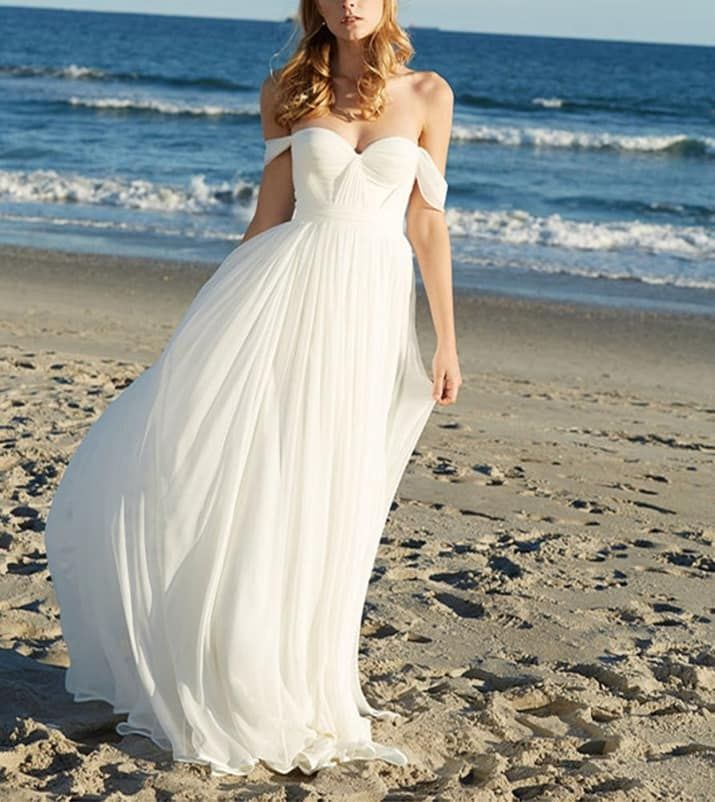 20 Gorgeous Wedding Dresses You Won T Believe You Can Find On Amazon Cheap Beach Wedding Dresses Chiffon Wedding Dress Beach Summer Wedding Dress Beach