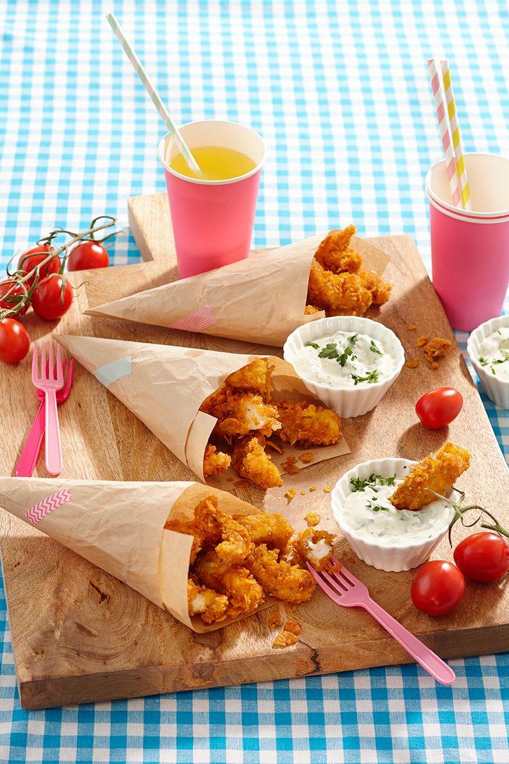 Gezond én heerlijk recept voor kids: visnuggets met peterseliedip -