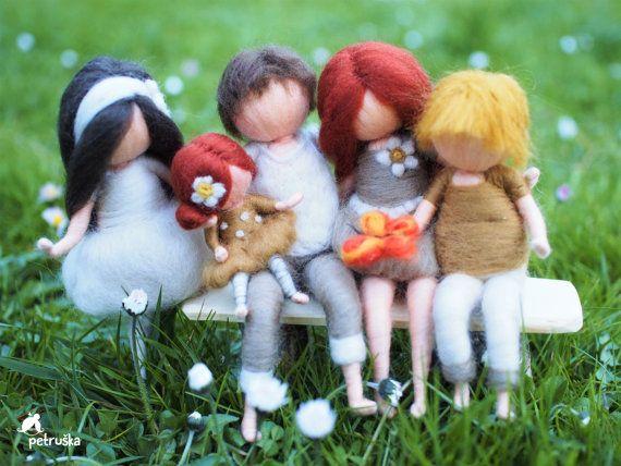 familia, waldorf, regalos personalizados, colores naturales, decoración para el hogar, fieltro, fieltro de las lanas, batanado de la aguja, ducha de bebé, regalos