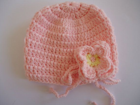 Crochet flower baby girl 3-6 months photo prop by TusaKnit on Etsy