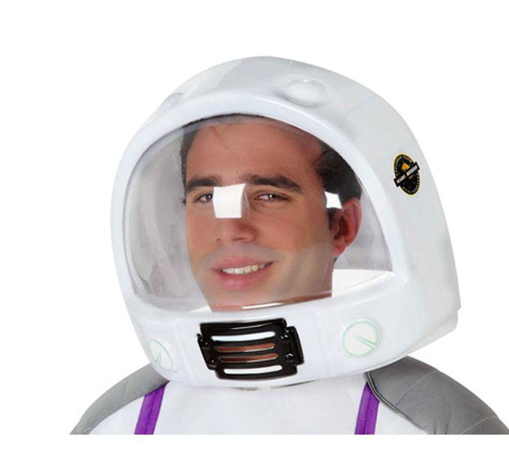 Casco de Astronauta del Espacio para Adulto. Complemento ideal para tu disfraz de astronauta o piloto de la NASA