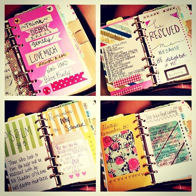 #ShareIG: Quotes Section in My Planner #katespadeplanner #quotes #filofax #filofaxaddict