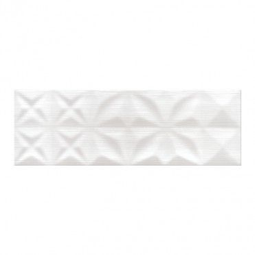 Glazura Modern Line 25 x 75 cm biała struktura 1,12 m2