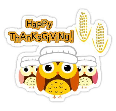 A #cute #thanksgiving sticker @redbubble