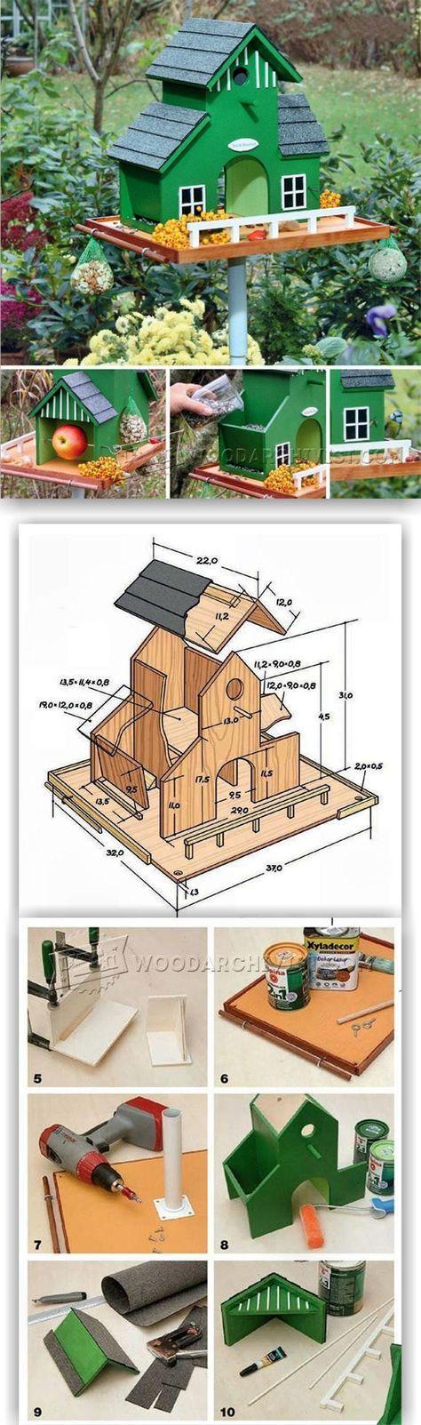 DIY Garden Bird Feeder - Outdoor Plans and Projects | WoodArchivist.com