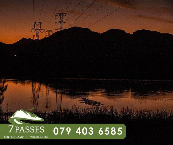 As another day comes to a near at 7 Passes, watch the beautiful sunset behind the #Outeniqua mountains while enjoying your stay. Call us to book your stay: 079 403 6585. #Accommodation #Wilderness