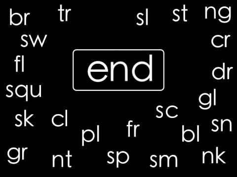 This is the original Consonant Blends Chant by ELF Learning.  See the updated version here: http://www.youtube.com/watch?v=485J4amokuA  ----------  Common Consonant Blends set to a jazzy beat.
