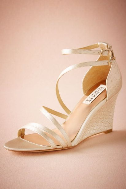BHLDN Valencia Wedges in  Bride Bridal Shoes at BHLDN