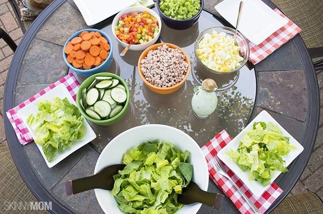Rainbow salad spread perfect for your #4thofjuly BBQ spread