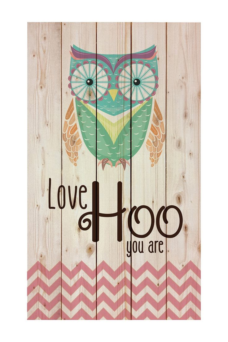 Love Hoo You Are Pallet Pine Wood Art by P. Graham Dunn on @HauteLook