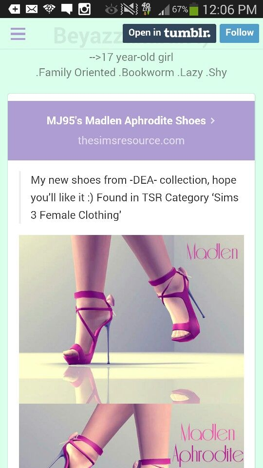 Heels for sims