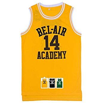 a65981b45 Will Smith 14 The Fresh Prince of Bel Air Academy Basketball Jersey S-XXXL  (Yellow
