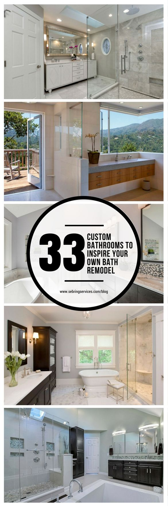 33 Custom Bathrooms To Inspire Your Own Bath Remodel