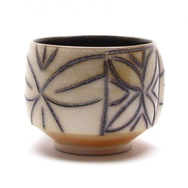 lovely! Brad Johnson   Black & White Teabowl - The Clay Studio