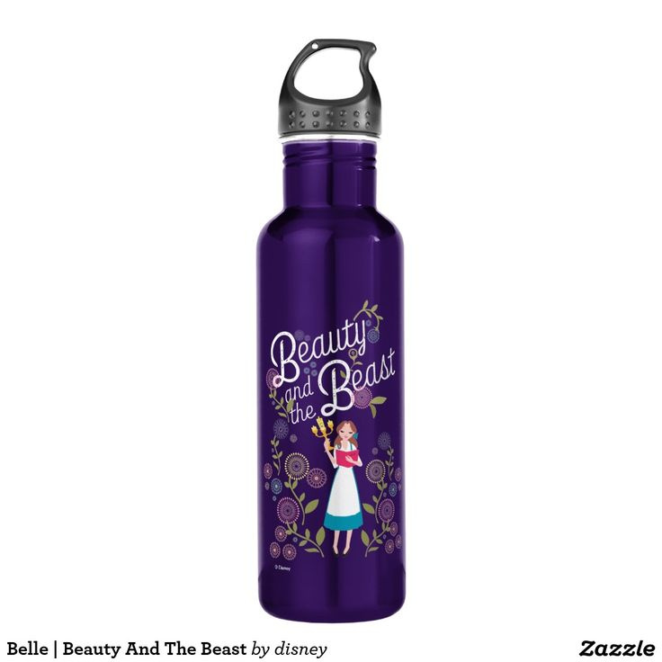 Belle | Beauty And The Beast. Botella de Agua, Water Bottle. Producto disponible en tienda Zazzle. Product available in Zazzle store. Regalos, Gifts. #bottle #botella