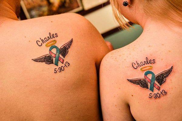 6 baby memorial matching tattoos