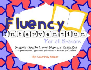 Fluency & Comprehension Reading Intervention for All Seasons: Fourth Grade Level